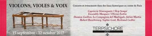 Affiche du festival Terpsichore, à Paris, jusqu'au 12 octobre.