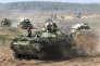 Des véhicules de l'armée biélorusse se préparent aux exercices militaires conjoints avec la Russie, le 11 septembre.