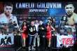 Canelo Alvarez et Gennady Golovkin le 13 septembre à Las Vegas, trois jours avant leur combat.