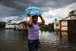 Dans les rues inondées de Immokalee, en Floride, le 13 septembre.