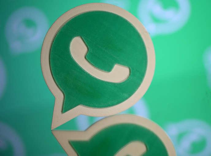 Un logo de l'application WhatsApp, très populaire dans le monde entier, et dont les communications sont chiffrées de bout en bout.