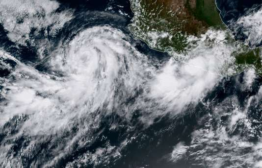 La tempête Norma à l'approche des côtes du Mexique, le 14 septembre.