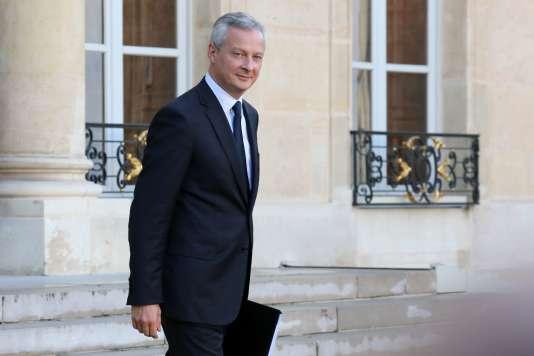 Le ministre de l'économie, Bruno Le Maire, le 14 septembre, à Paris.