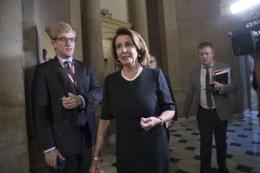 La parlementaire démocrate Nancy Pelosi après sa rencontre avec Paul Ryan, à Washington, le 13 septembre.