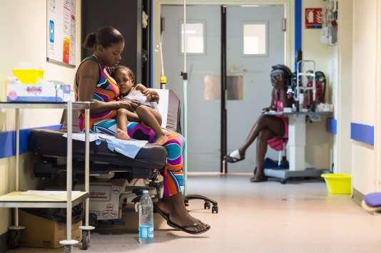 Dans les couloirs de l'hôpital de Marigot, à Saint-Martin, le 14 septembre.