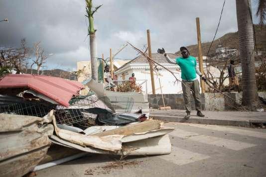 Illustrations des dégâts après le passage de l'ouragan IRMA dans le quartier de Sandyground à Marigot Saint Martin, le 13 septembre 2017. Photo by ELIOT BLONDET/ABACAPRESS.COM