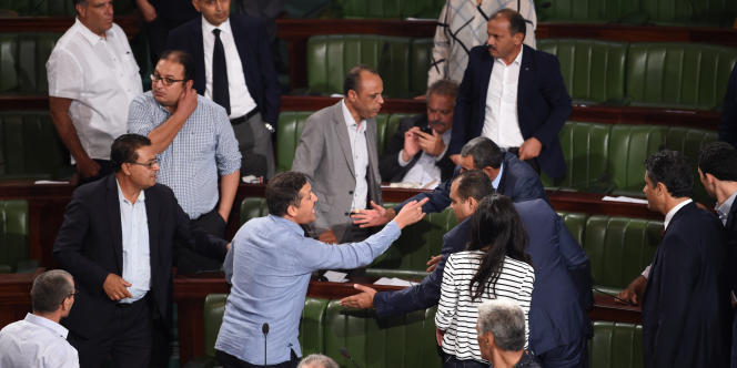 La tension était palpable à l'Assemblée des représentants du peuple à Tunis le 13 septembre 2017 lors du vote de la loi d'amnistie et de « réconciliation économique et financière ».