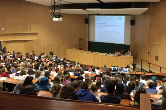 A l'université de Strasbourg, en septembre.