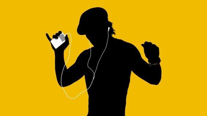 Y comme la forme dessinée par le fil des écouteurs plantés dans les oreilles de ce jeune né entre 1980et2000.