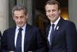 Nicolas Sarkozy et Emmanuel Macron, à l'Elysée, le 15 septembre, lors d'une cérémoie après l'attribution des JO de 2024 à Paris.