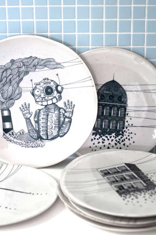 La vaisselle en céramique de Maison Le Loup.
