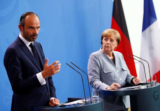 Edouard Philippe et Angela Merkel, à Berlin, le 15 septembre.