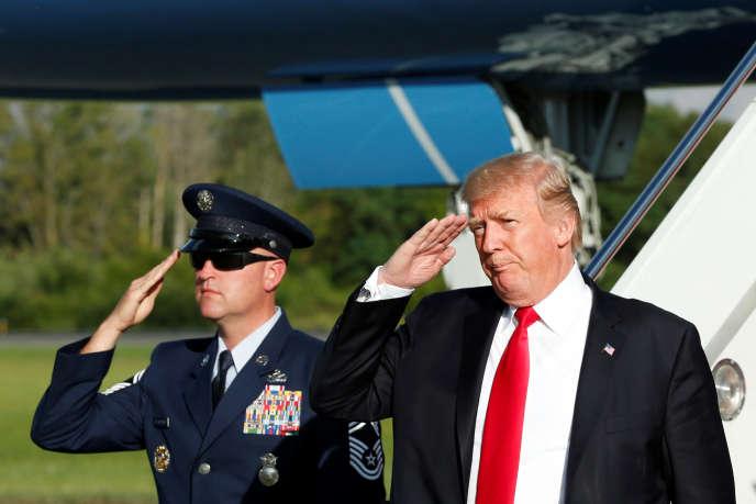 Donald Trump, à son arrivée à Morristown (New Jersey), le 15 septembre.