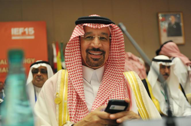 Le ministre saoudien de l'énergie, Khaled al-Faleh, lors du Forum international de l'énergie, à Alger, le 27 septembre 2016.
