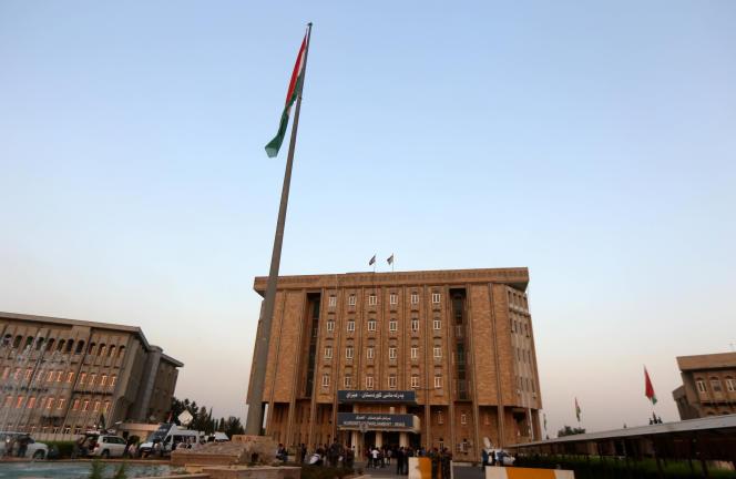 Vue du Parlement de la région autonome kurde en Irak, à Erbil, le 15 septembre 2017.