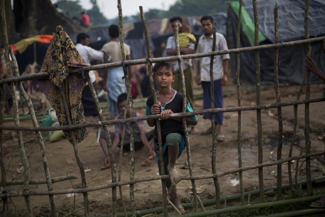 Un enfant rohingya dans le camp de réfugiés de Kutupalong, au Bangladesh, le 5 septembre.