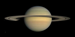 This July 23, 2008 image made available by NASA shows the planet Saturn, as seen from the Cassini spacecraft. After a 20-year voyage, Cassini is poised to dive into Saturn on Friday, Sept. 15, 2016. (NASA/JPL/Space Science Institute via AP)