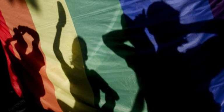 Les couleurs arc-en-cieldes communautéslesbiennes, gays, bisexuelles et trans.