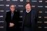 Guy Roux (à droite) à la soirée anniversaire des 40 ans de «Téléfoot», dans l'auditorium de TF1.