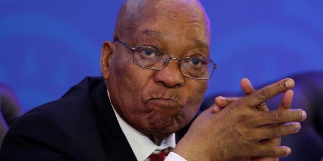 Le président sud-africain, Jacob Zuma, à Pretoria, le 19août 2017.