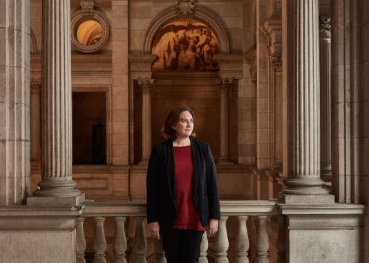 Ada Colau, la maire de Barcelone à la mairie le 15 septembre.