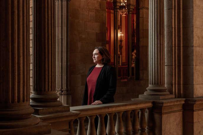 Ada Colau, la maire de Barcelone à la mairie le 15 septembre