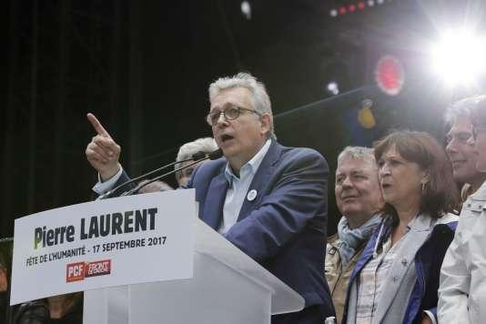 Pierre Laurent a égratigné Jean-Luc Mélenchon pendant la Fête de« L'Humanité».