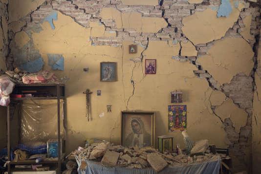 La maison endommagée de Larissa Garcia, le 9 septembre.