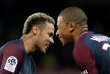 Soccer Football - Ligue 1 - Paris St Germain vs Olympique Lyonnais - The Parc des Princes, Paris, France - September 17, 2017   Paris Saint-Germain?s Neymar and Kylian Mbappe celebrate after Lyon's Jeremy Morel scored an own goal and their second goal    REUTERS/Benoit Tessier     TPX IMAGES OF THE DAY