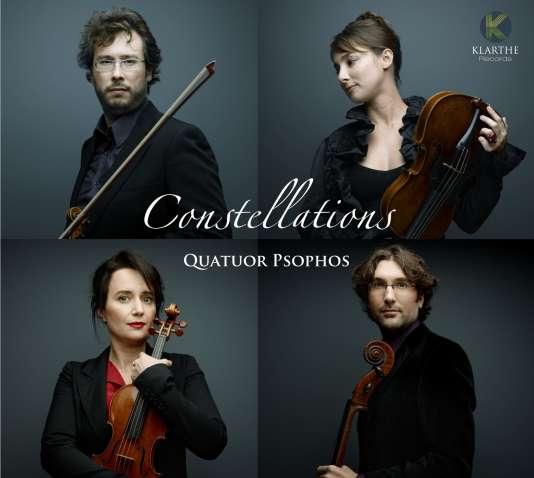 Pochette de l'album«Constellations», par le quatuor Psophos.