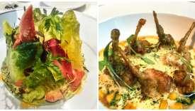 Salade de homard fatiguée et cuisses de grenouille un peu grasses à la Brasserie d'Aumont.