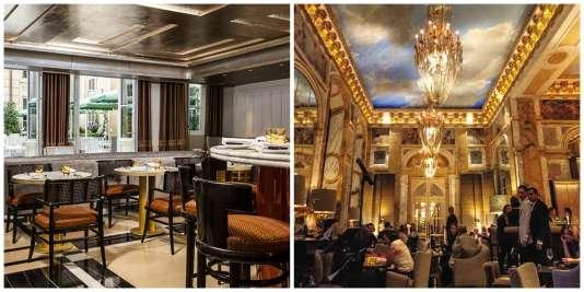 La Brasserie d'Aumont (à g.) ne convainc pas. Le bar Les Ambassadeurs, lui, a tout pour séduire.