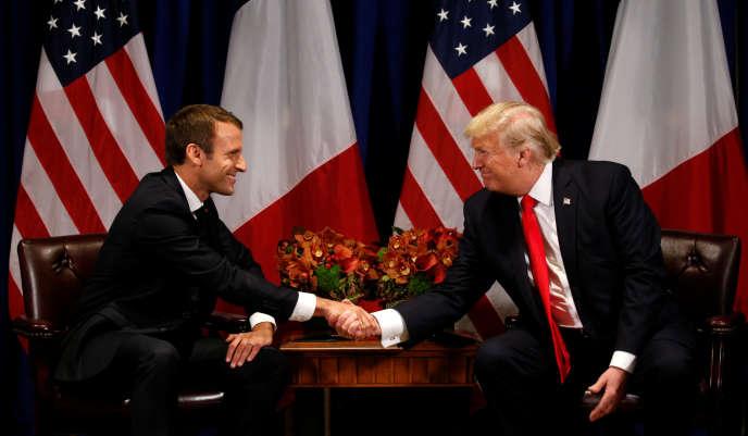 Donald Trump et Emmanuel Macron, le 18 septembre.