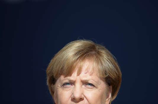 Angela Merkel, lors d'un meeting à Ratisbonne, le 18 septembre.