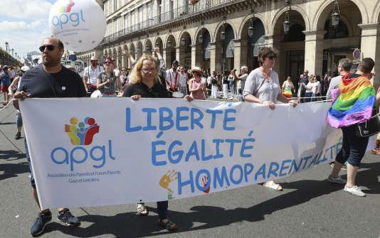 La Gay Pride, le 24 juin 2017 à Paris.
