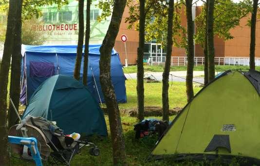 Sur le campus Croix-Rouge de l'université de Reims, le 18 septembre.