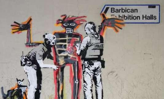 L'une des deux fresques de Banksy à Londres.