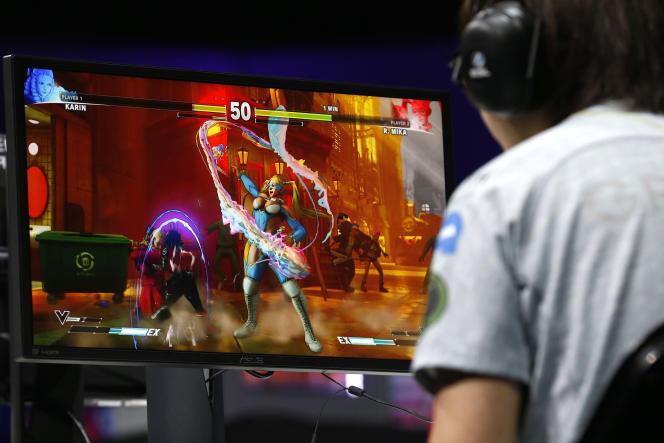 Partie de « Street Fighter V», à New York, le 17 septembre 2017.