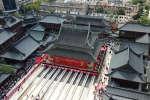 Vue aérienne du Temple du Bouddha de jade à Shanghaï.