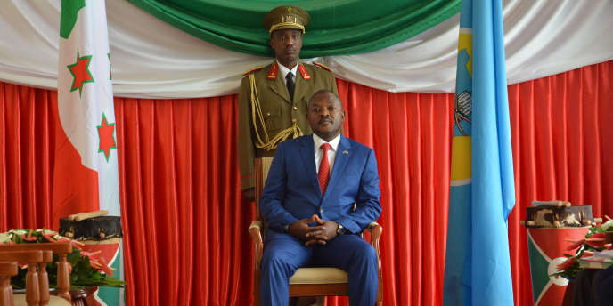Le président burundais, Pierre Nkurunziza, à Bujumbura en juin 2017.
