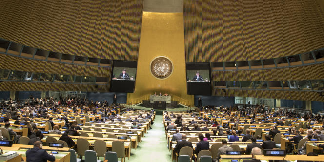 Ouverture de la 72e Assemblée générale des Nations unies au siège de l'organisation, à New York, le 12 septembre.