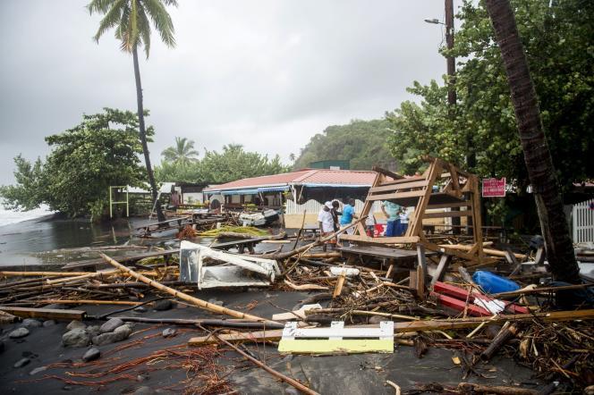 Un restaurant de plage sur la commune du Carbet, à la Martinique, le 19 septembre.