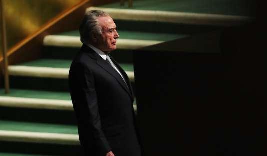 Le sort de Michel Temer, présent à l'Assemblée générale des Nations unies mardi 19 septembre, est entre les mains de la Chambre des députés.