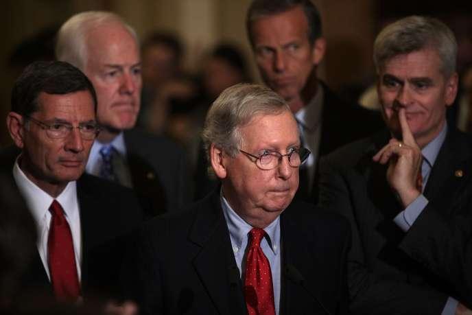 Le sénateur Mitch McConnell, chef de la majorité au Sénat, au Capitole à Washington le 19septembre.
