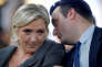 FILE PHOTO - France's far-right National Front (FN) leader Marine Le Pen (L) and vice-president Florian Philippot attend a FN political debate in Paris, France, November 15, 2016. Picture taken November 15, 2016.   REUTERS/Benoit Tessier/File Photo