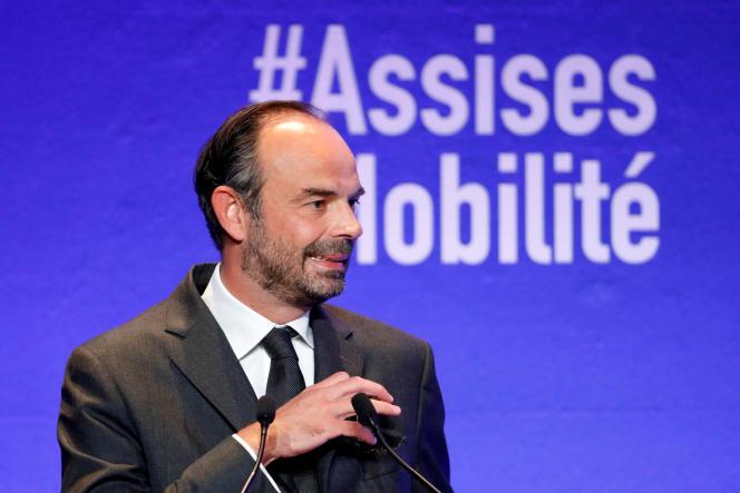 Le premier ministre français, Edouard Philippe, lors d'un forum sur la mobilité à Paris, le 19 septembre 2017.