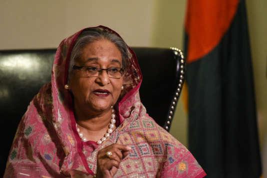 """« Nous avons dit à la Birmanie : """"ils sont vos citoyens, vous devez les reprendre, assurer leur sécurité, les abriter, il ne devrait y avoir ni oppression ni torture"""" », a déclaré la première ministre lors d'une rencontre mardi soir avec ses compatriotes à New York."""