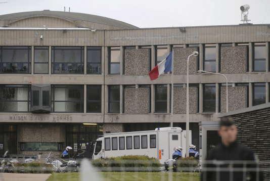 L'entrée de la prison de Fleury-Merogis (Essonne), en avril 2016.