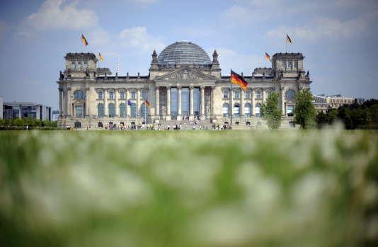 Le Reichstag à Berlin, bâtiment qui accueille le Bundestag, le Parlement allemand.