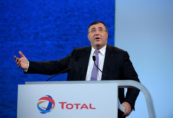 Patrick Pouyanné, le PDG de Total, à Paris, le 24 mai 2016.